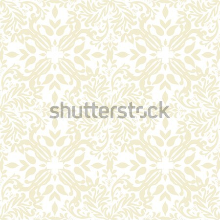 floral beige repeat Stock photo © nicemonkey