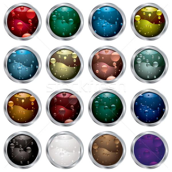 bubble button bevel Stock photo © nicemonkey