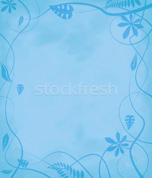 floral mottled paper blue Stock photo © nicemonkey