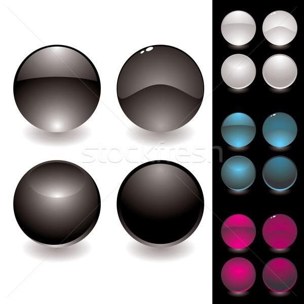 Négy gomb variáció gyűjtemény különböző ikonok Stock fotó © nicemonkey