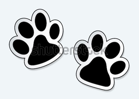 Pet paw prints Stock photo © nicemonkey