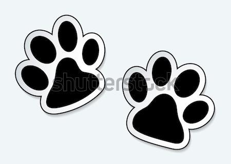 Evcil hayvan pençe hayvan simgeler gölge etki Stok fotoğraf © nicemonkey