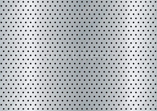 Metaal gat zilver zwarte textuur patroon Stockfoto © nicemonkey