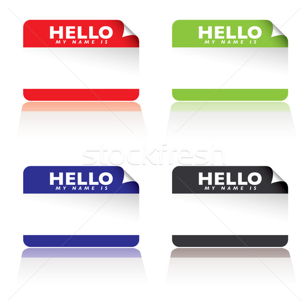 hello my name is Stock photo © nicemonkey