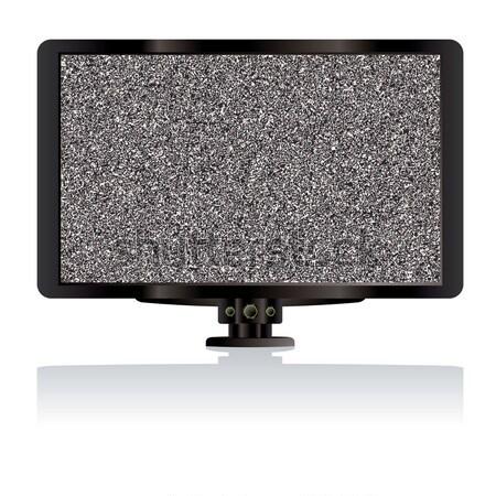 Televisão estático moderno preto tela plana quarto Foto stock © nicemonkey