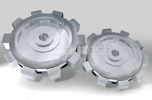 two silver cogs Stock photo © nicemonkey