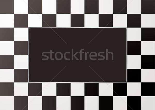 checkered mono picture frame Stock photo © nicemonkey