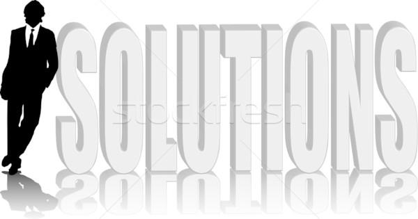 man lean solutions Stock photo © nicemonkey