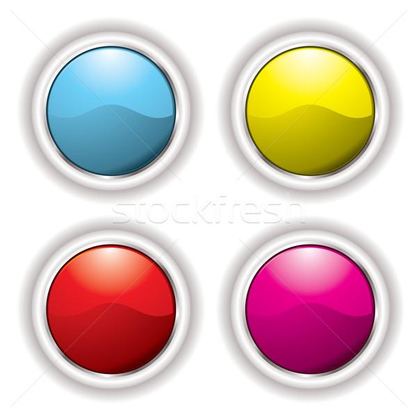 white bevel button Stock photo © nicemonkey