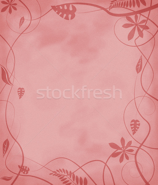 floral mottled paper red Stock photo © nicemonkey