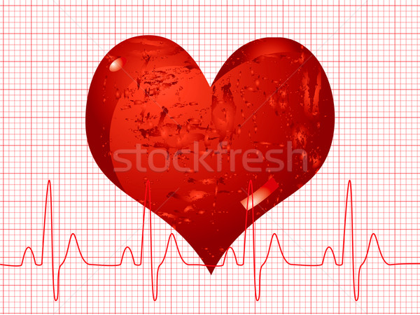 Szívverés illusztráció orvosi mutat ekg fény Stock fotó © nicemonkey