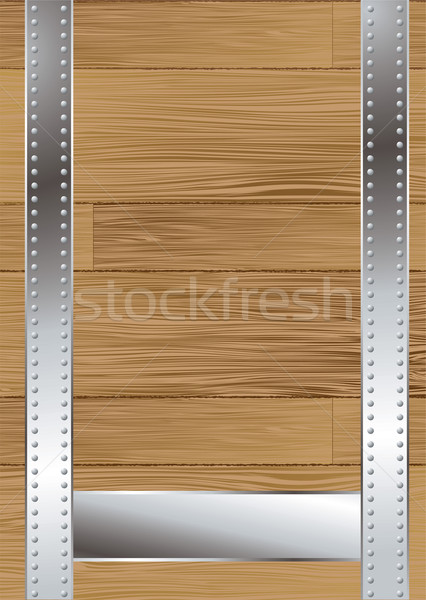 Grain de bois sangle bois panneau texte construction Photo stock © nicemonkey