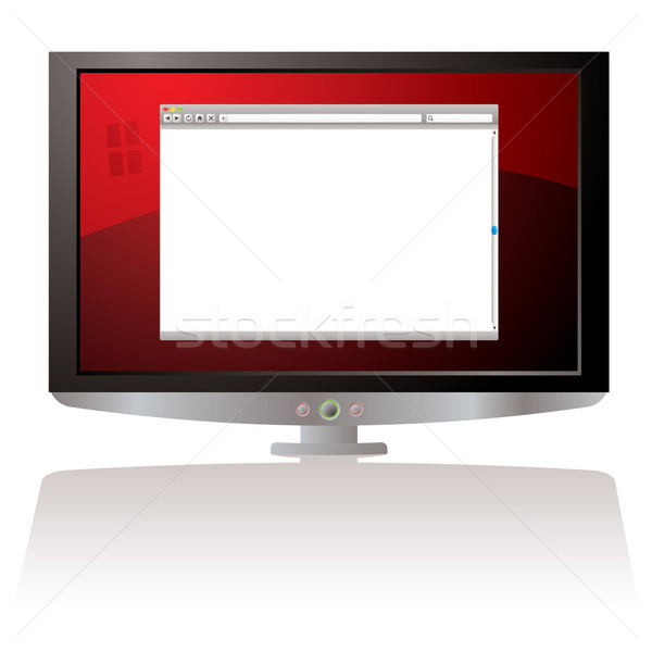 Lcd Rood web browser monitor business Stockfoto © nicemonkey