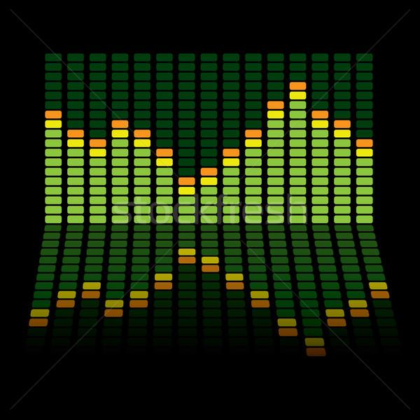 graphic equalizer reflect Stock photo © nicemonkey