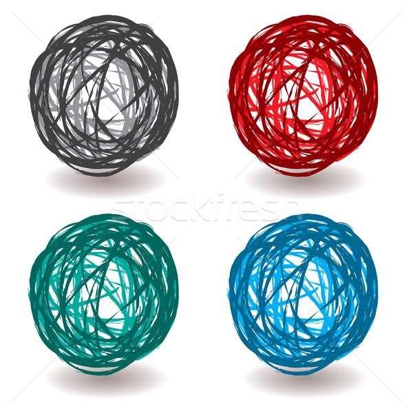 scribble abstract ball Stock photo © nicemonkey
