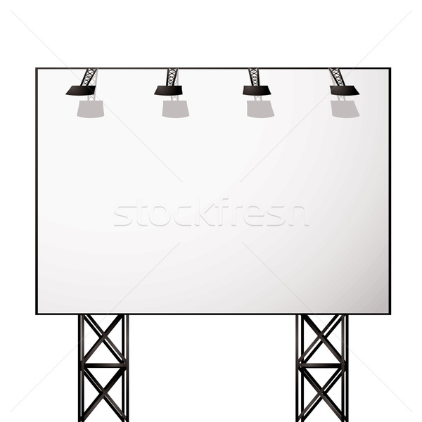 billboard white shadow Stock photo © nicemonkey