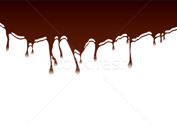 chocolate dribble background Stock photo © nicemonkey