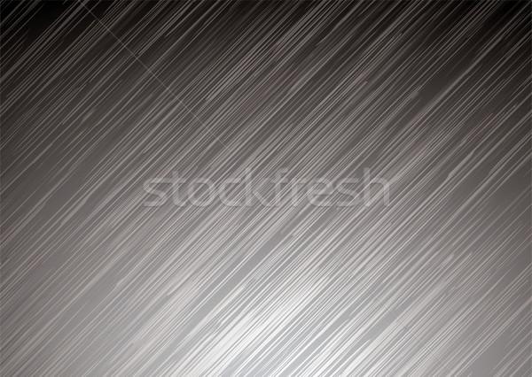 Karanlık metal yüzeye resimli gümüş Metal tahıl Stok fotoğraf © nicemonkey