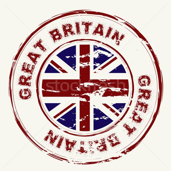 Wielka brytania grunge atramentu pieczęć Unii Zdjęcia stock © nicemonkey