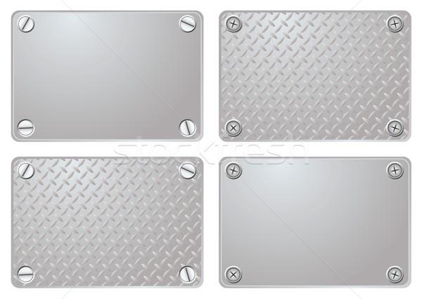 metal plate Stock photo © nicemonkey
