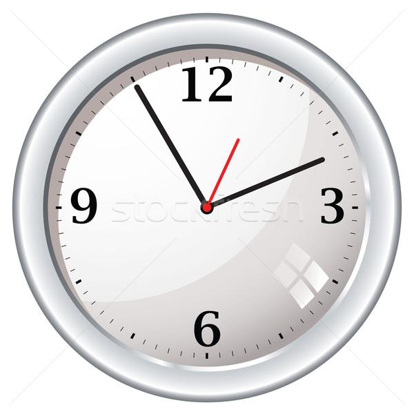Moderno retro parede relógio metal branco Foto stock © nicemonkey