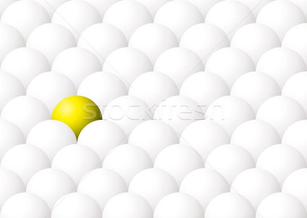 yellow ball out Stock photo © nicemonkey