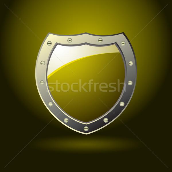 gold shield blank Stock photo © nicemonkey