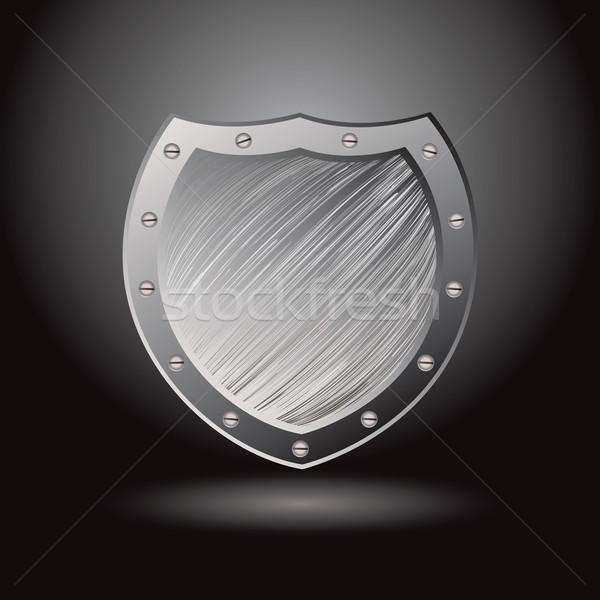 Metal brushed shield secure Stock photo © nicemonkey