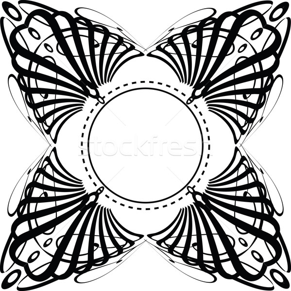 Goth couronne centre central design document Photo stock © nicemonkey