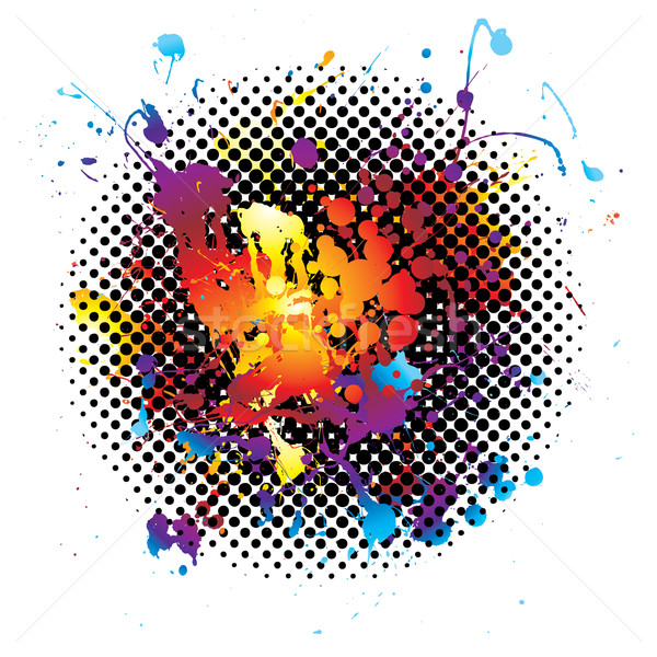 rainbow splatter grunge Stock photo © nicemonkey