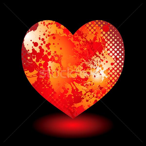 splat grunge heart Stock photo © nicemonkey