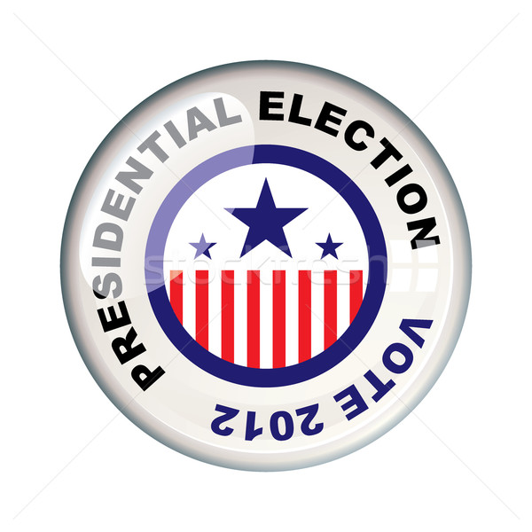 Stemming 2012 presidents- verkiezing amerika badge Stockfoto © nicemonkey