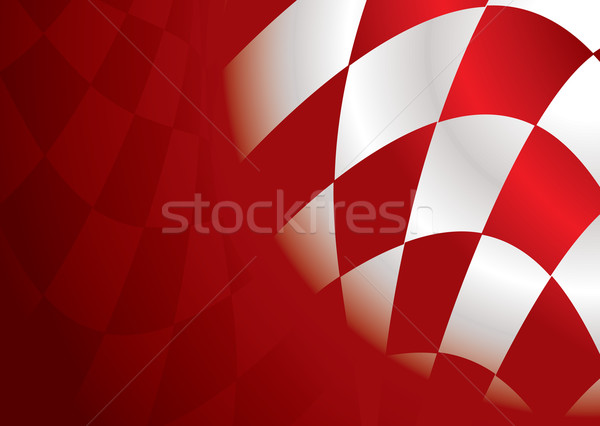 checkered corner red Stock photo © nicemonkey