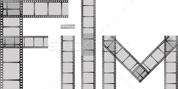 Stok fotoğraf: Film · büyü · parçalar · yazım · kelime · dışarı