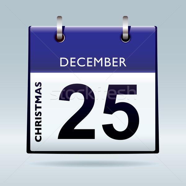 christmas day calendar blue Stock photo © nicemonkey