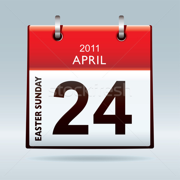 Easter Sunday calendar icon Stock photo © nicemonkey