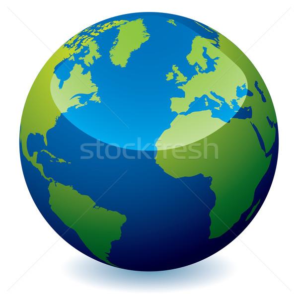 Realistisch Erde Welt wirklich Welt Symbol Stock foto © nicemonkey