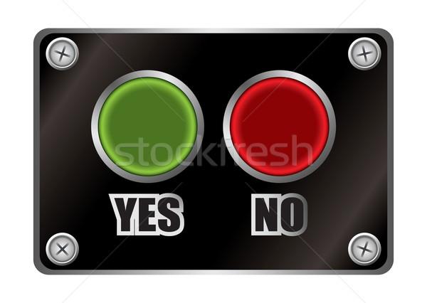 yes no black button Stock photo © nicemonkey