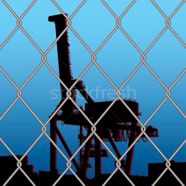 crane wire fence Stock photo © nicemonkey