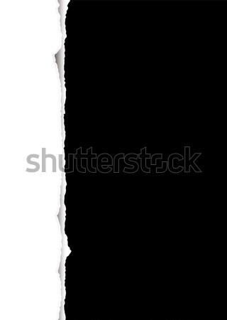 Tép feketefehér absztrakt gyártmány keret papír Stock fotó © nicemonkey