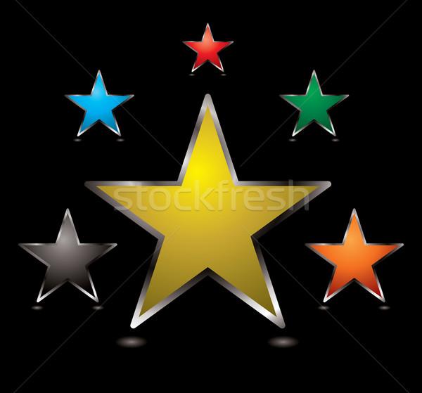 star buttons centre Stock photo © nicemonkey