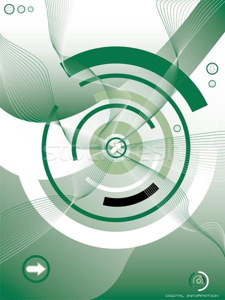 Zöld illusztrált mutat digitális információ üzlet Stock fotó © nicemonkey