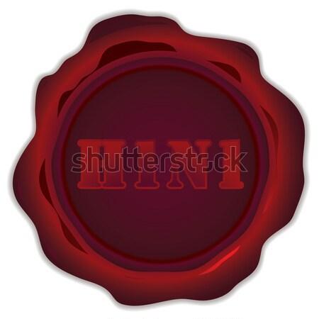 H1n1 штампа иллюстрированный красный воск печать Сток-фото © nicemonkey