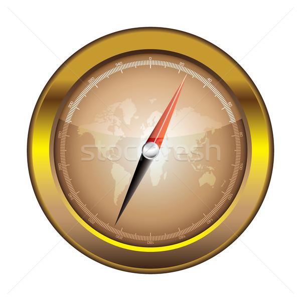 Compass icon retro Stock photo © nicemonkey