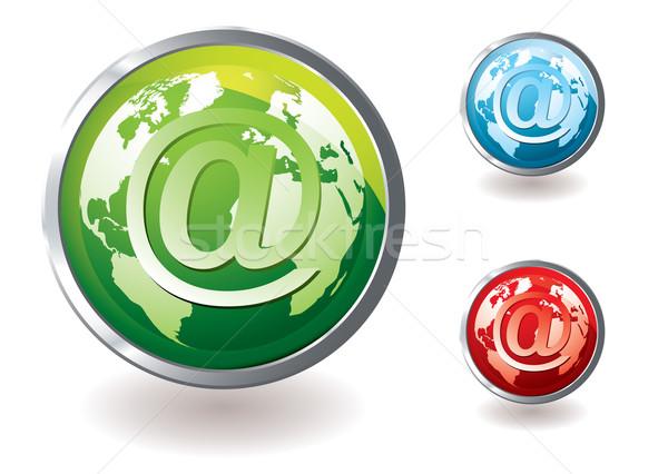 Stock fotó: Email · ikon · világ · gyűjtemény · ikonok · szín