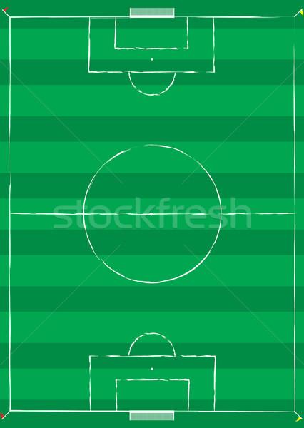 サッカー ピッチ 白 行 コーナー フラグ ストックフォト © nicemonkey