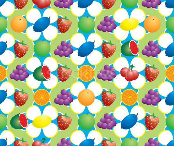 фрукты аннотация 70-х годов стиль шаблон Сток-фото © nicemonkey