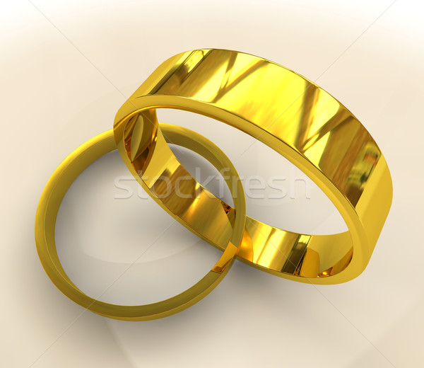 gold wedding rings Stock photo © nicemonkey