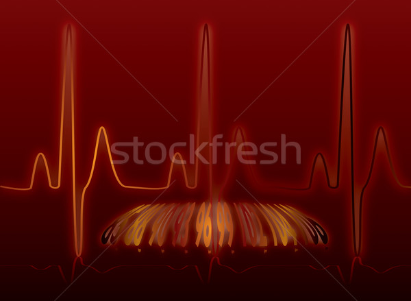 heartbeat glow warm Stock photo © nicemonkey