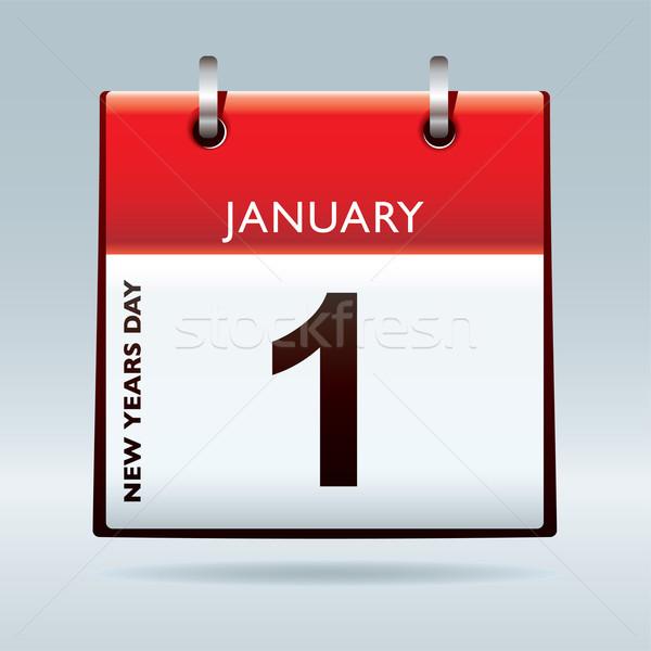 New years eve calendar Stock photo © nicemonkey